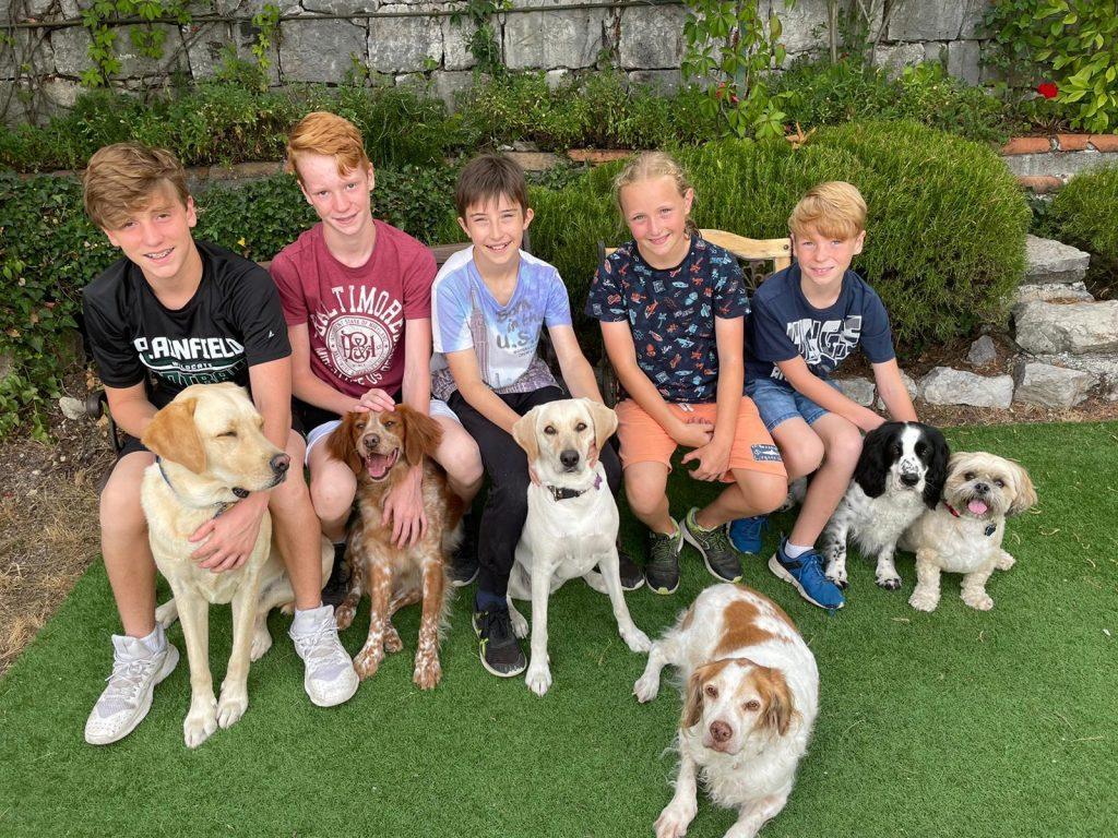 Famille et chiens